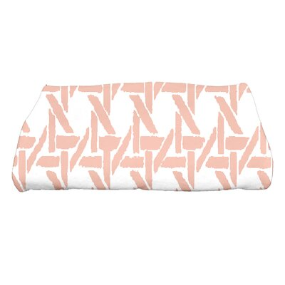 Sailer Rattan Geometric Print Bath Towel Color: Coral