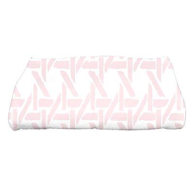 Sailer Rattan Geometric Print Bath Towel Color: Pink