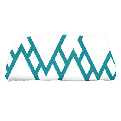 Sailer Square Geometric Print Bath Towel Color: Blue