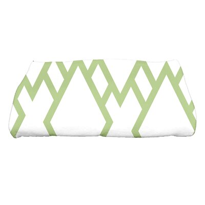 Sailer Square Geometric Print Bath Towel Color: Green