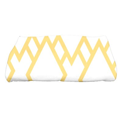 Sailer Square Geometric Print Bath Towel Color: Yellow