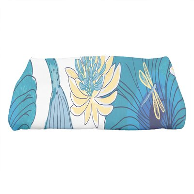 Monteiro Floral Print Bath Towel Color: Teal