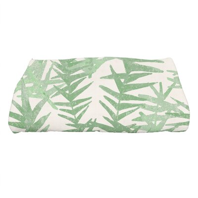 Monteiro Spikey Floral Print Bath Towel Color: Green