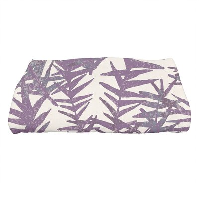 Monteiro Spikey Floral Print Bath Towel Color: Purple