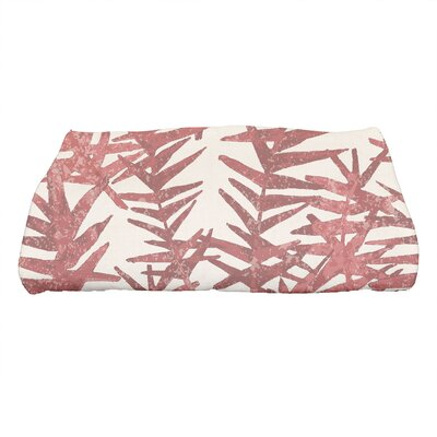 Monteiro Spikey Floral Print Bath Towel Color: Red