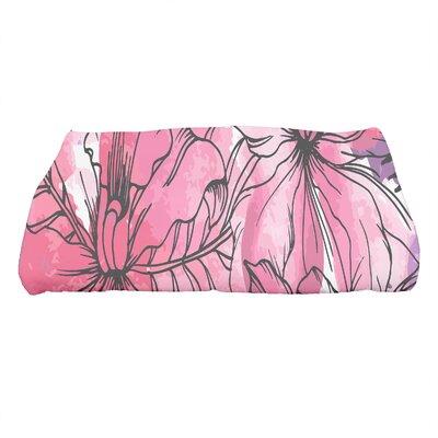 Marlow Zentangle Floral Print Bath Towel Color: Purple