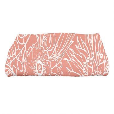 Shavon Zentangle 4 Floral Print Bath Towel Color: Red Orange
