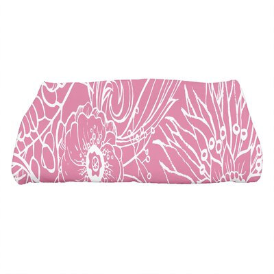 Shavon Zentangle 4 Floral Print Bath Towel Color: Pink