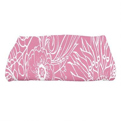Shavon Zentangle 4 Floral Print Bath Towel Color: Pink
