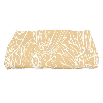 Shavon Zentangle 4 Floral Print Bath Towel Color: Gold