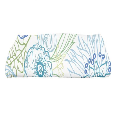 Shavon Zentangle 4 Color Floral Print Bath Towel Color: Blue