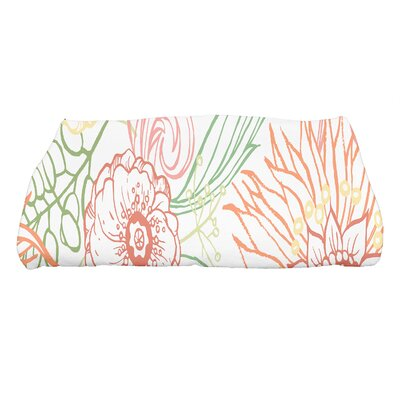 Shavon Zentangle 4 Color Floral Print Bath Towel Color: Orange