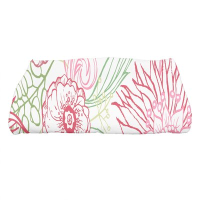 Shavon Zentangle 4 Color Floral Print Bath Towel Color: Red