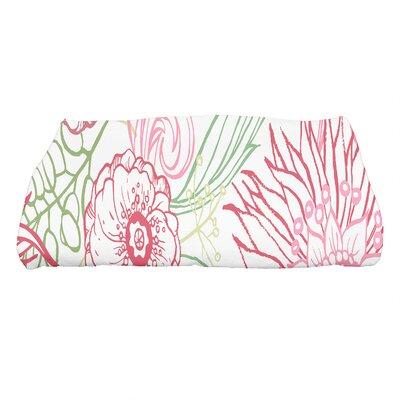 Shavon Zentangle 4 Color Floral Print Bath Towel Color: Red