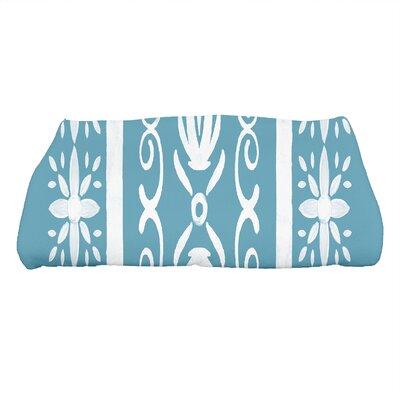 Monteiro Geometric Print Bath Towel Color: Teal