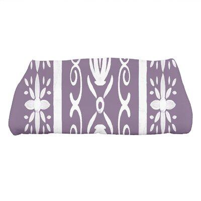 Monteiro Geometric Print Bath Towel Color: Purple