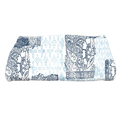 Laymon Patches Bath Towel Color: Navy Blue