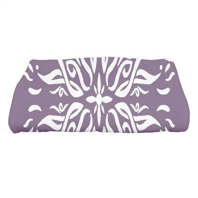 Monteiro Print Bath Towel Color: Purple