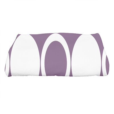 Hassett Mod Circles Geometric Print Bath Towel Color: Purple