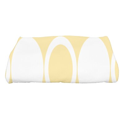 Hassett Mod Circles Geometric Print Bath Towel Color: Yellow