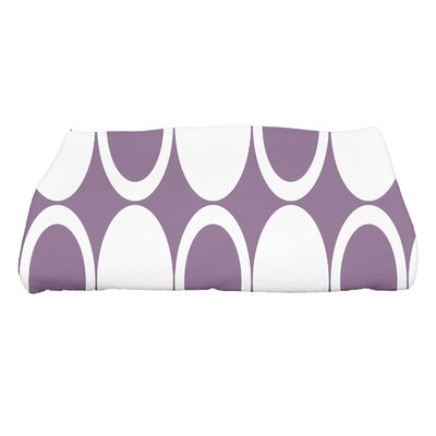 Hassett Small Mod Circles Geometric Print Bath Towel Color: Purple