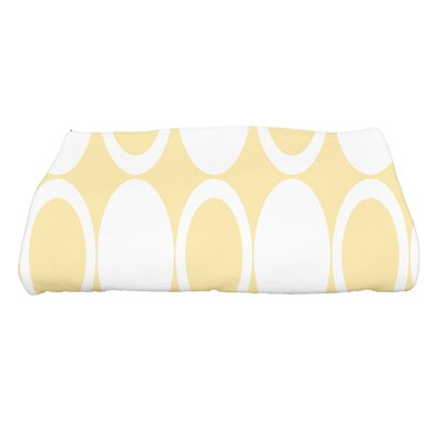 Hassett Small Mod Circles Geometric Print Bath Towel Color: Yellow