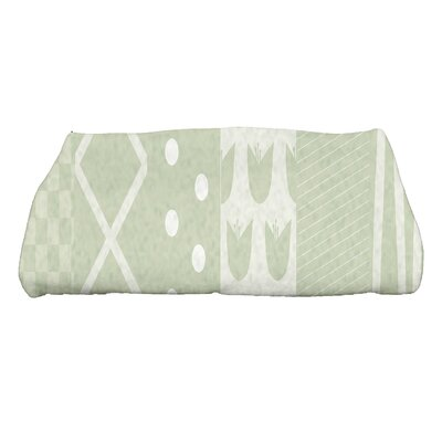 Monroe Pattern Stripe Bath Towel Color: Green