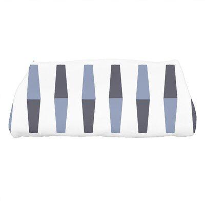 Harriet Bowling Pins Geometric Print Bath Towel Color: Navy Blue