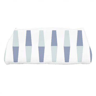Harriet Bowling Pins Geometric Print Bath Towel Color: Blue