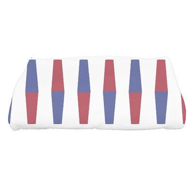 Harriet Bowling Pins Geometric Print Bath Towel Color: Red