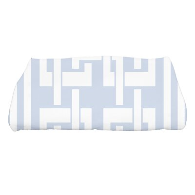 Harriet Geometric Print Bath Towel Color: Blue