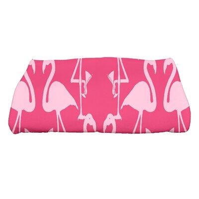 Sailer Flamingo Heart Martini Animal Print Bath Towel Color: Pink/Light Pink