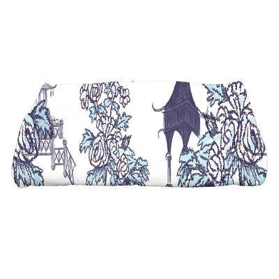 Spina China Old Floral Print Bath Towel Color: Navy Blue