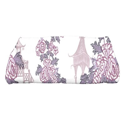 Spina China Old Floral Print Bath Towel Color: Purple