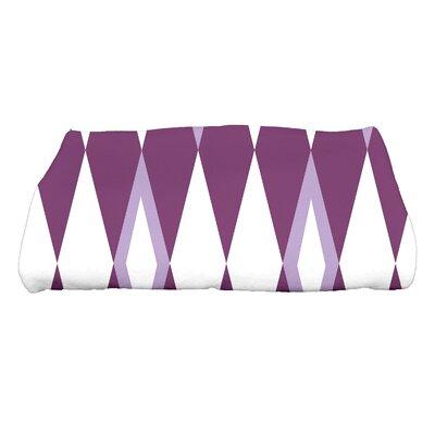 Sailer Harlequin Geometric Print Bath Towel Color: Purple