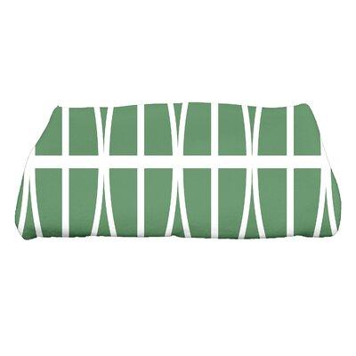 Sailer Ovals and Stripes Print Bath Towel Color: Green