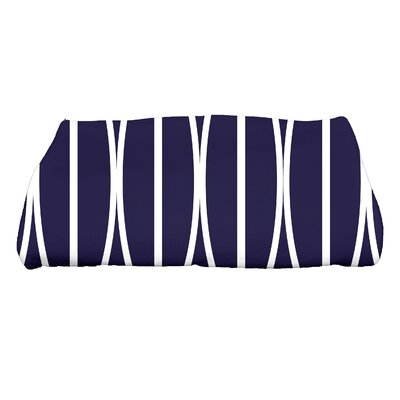 Sailer Ovals Go Round Geometric Print Bath Towel Color: Navy Blue