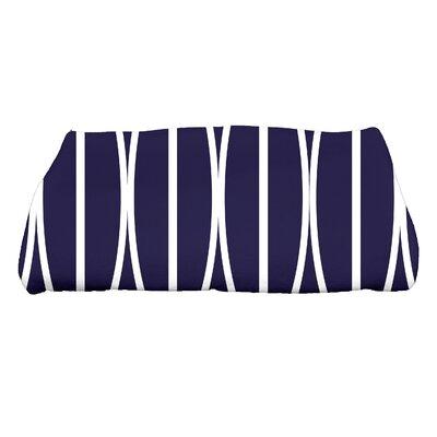 Sailer Ovals Go Round Geometric Print Bath Towel Color: Navy Blue