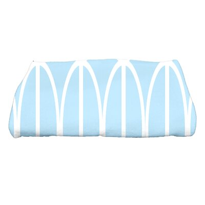 Sailer Ovals Go Round Geometric Print Bath Towel Color: Pale Blue