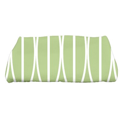Sailer Ovals Go Round Geometric Print Bath Towel Color: Green