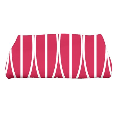Sailer Ovals Go Round Geometric Print Bath Towel Color: Pink