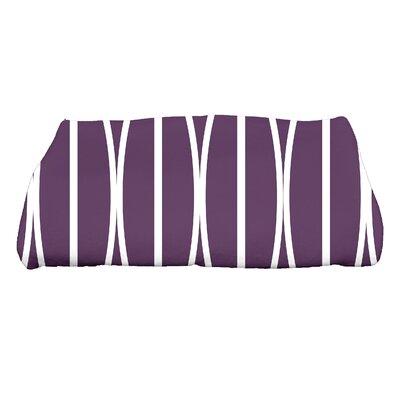 Sailer Ovals Go Round Geometric Print Bath Towel Color: Purple