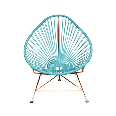 Svendsen Acapulco Chair Finish: Blue/Copper