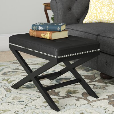 Lewiston Ottoman Upholstery: Black