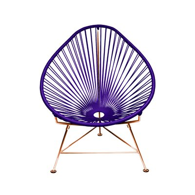 Svendsen Acapulco Chair Finish: Purple/Copper