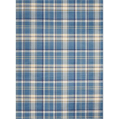 Longmont Cathcart Blue Area Rug Rug Size: Rectangle�53 x 73