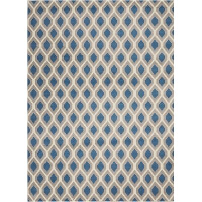 Susan Blue Indoor Area Rug Rug Size: Rectangle�53 x 73