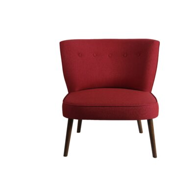 Wiest Slipper Chair Upholstery: Red