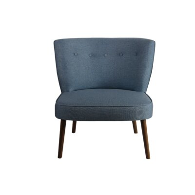 Wiest Slipper Chair Upholstery: Blue