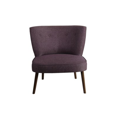 Wiest Slipper Chair Upholstery: Purple